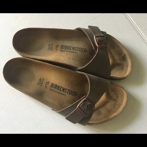 Birkenstock's Madrid Brown Tan Sandals Women's 41